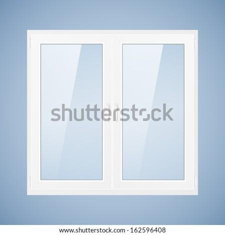 Vector Illustration White Plastic Window Pvc Vector De Stock