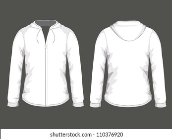 Vector illustration of white pullover templates