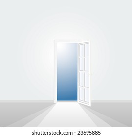 vector illustration of the white room