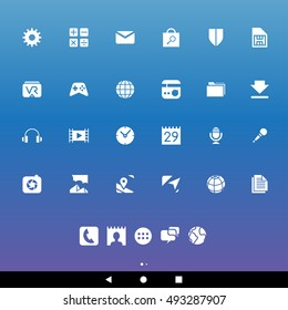 Vector Illustration of White Smartphone Apps and User Interface Icons