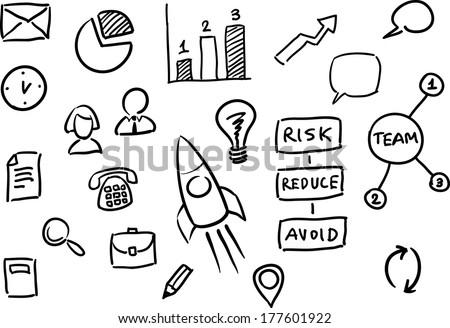 vector illustration whiteboard business presentation vector stock