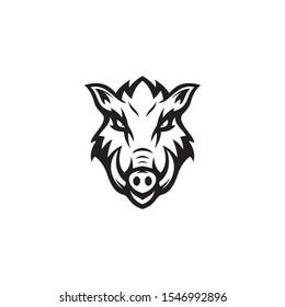 vector illustration wild boar animal design