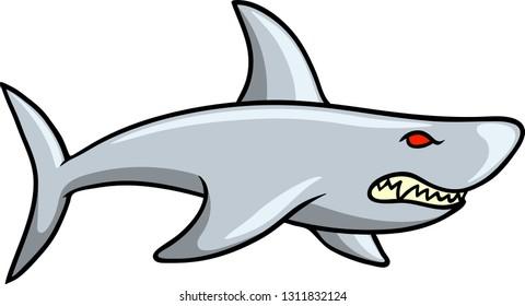 Vector illustration of a wild shark logo.