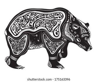 Vector illustration of wild totem animal - Bear