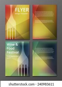 vector illustration of wine flyer or brochure cover
