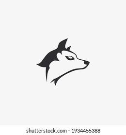 Vector illustration of wolf head icon