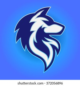 Vector illustration of a wolf head. Perfect for your sport's teams logo.