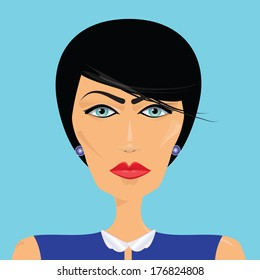 Vector illustration of woman portrait