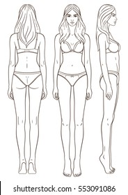 Female Body Template Images, Stock Photos & Vectors | Shutterstock