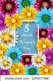 Vector illustration of Women's Day, March 8. Happy Mother's Day