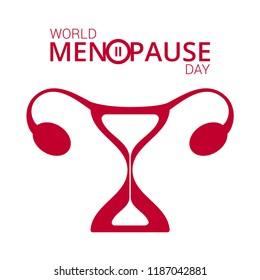 Vector illustration of a women's menopause international day