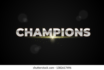 Vector Illustration word champions, Abstract image of a champion cup