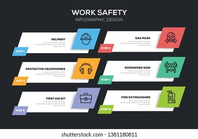 VECTOR ILLUSTRATION OF WORK SAFETY INFOGRAPHIC DESIGN