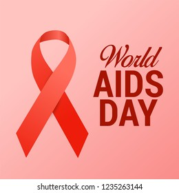 Vector illustration of world aids day. red ribbon. december 1. vector