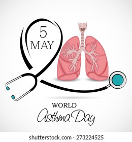 Vector illustration for World Asthma Day in white background.