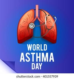 Vector illustration of World Asthma Day.