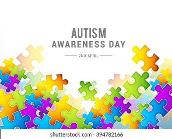 Vector illustration of  World autism awareness day.