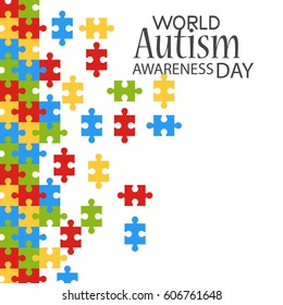 Vector illustration of World autism awareness day 2nd April.