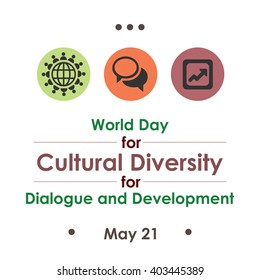vector illustration / World Day for Cultural Diversity for Dialogue and Development