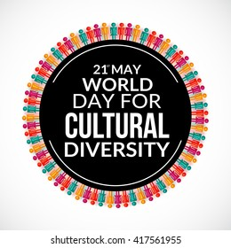 Vector illustration of  World Day for Cultural Diversity.