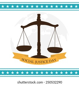 Vector illustration for World Day of Social Justice.