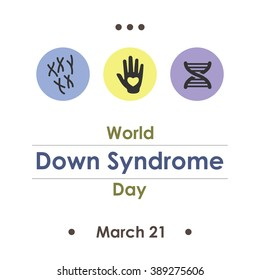 vector illustration / world down syndrome day