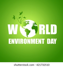 Vector illustration of a World Environment Day.