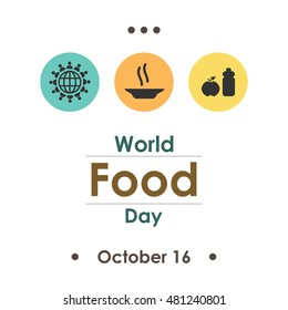 vector illustration for World Food Day in october