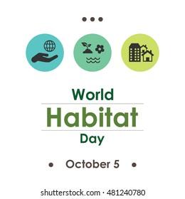 vector illustration for World Habitat Day in october