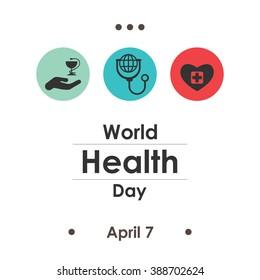 vector illustration / world health day