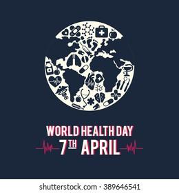 Vector illustration World Health Day inversion