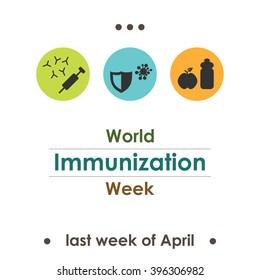 vector illustration / world immunization week