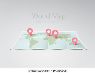 vector illustration world map