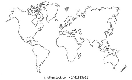 Outline Map Images, Stock Photos & Vectors | Shutterstock