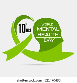 Vector illustration for World Mental Health Day Background.