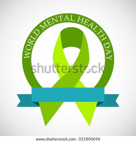 Vector Illustration For World Mental Health Day Background