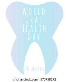 Vector illustration of World Oral Health Day, 20 March. Can be used for your postcard, placard, banner, poster.