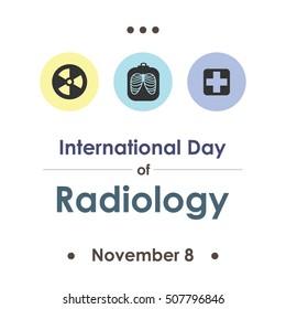 vector illustration for World Radiology day in november