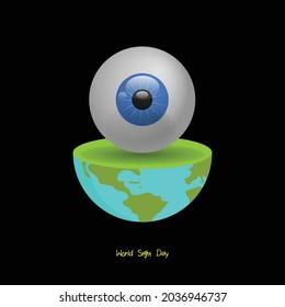 Vector illustration for World Sight Day.