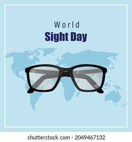vector illustration for world sight day