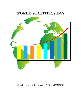 vector illustration World statistics day. Suitable for banner, web, poster, template
