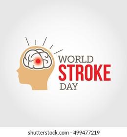 Vector illustration of World Stroke Day. Health care campaign.