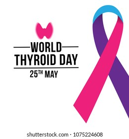 Vector illustration for World Thyroid Day. Can be used for poster, banner, medical designs, backgrounds, symbol, icon and print templates.
