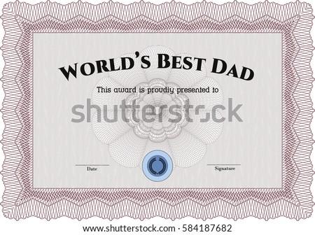 vector illustration worlds best dad award stock vector royalty free
