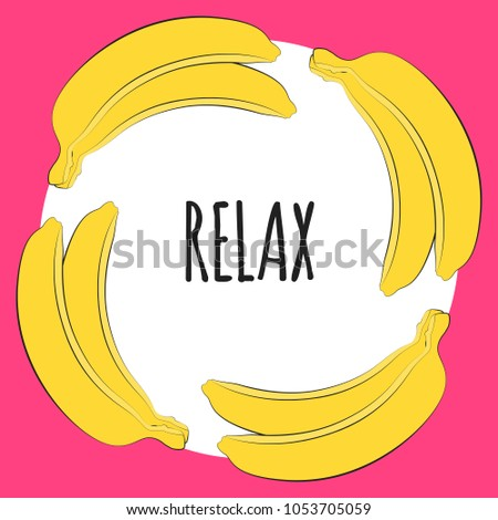 vector illustration yellow banana template geometric stock vector