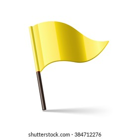 Vector illustration of yellow flag