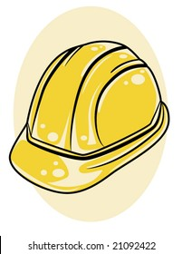 vector illustration of a yellow hard hat