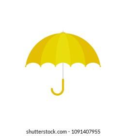 c7fa929e50968 Yellow umbrella icon. Yellow umbrella isolated on white background. Cartoon  style