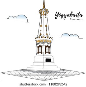 Vector illustration of Yogyakarta Monument