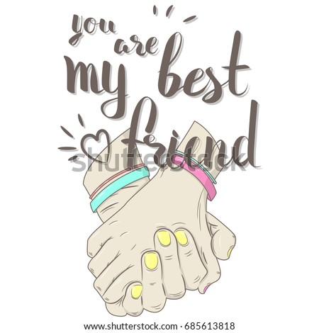 Vector Illustration You My Best Friend Stock Vector Royalty Free